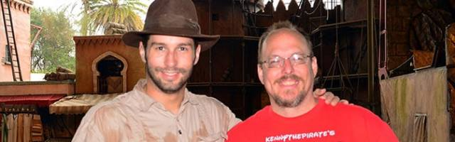 Indiana Jones Hollywood Studios meet and greet KennythePirate
