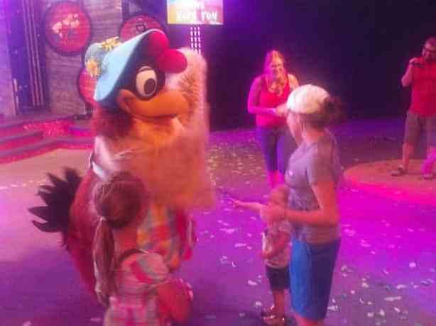 We met Clara Cluck at Dancing with Disney in California Adventure in 2012