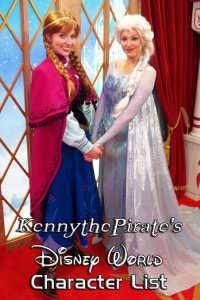 Disney World Character List kennythepirate #disneyworld #disney #wolrd #characters