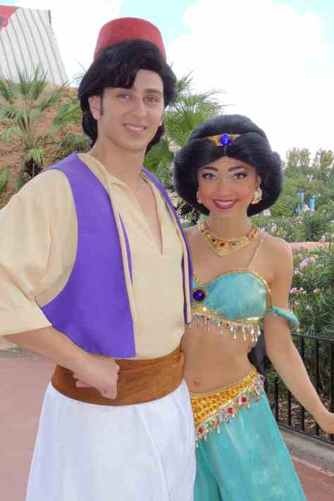 Aladdin and Jasmine at Morocco in EPCOT 2012