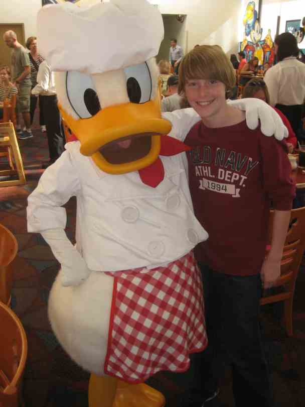 Donald at Chef Mickey's