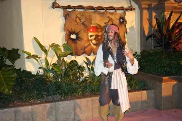 Jack Sparrow at Mickey's Not So Scary Halloween Party 2012
