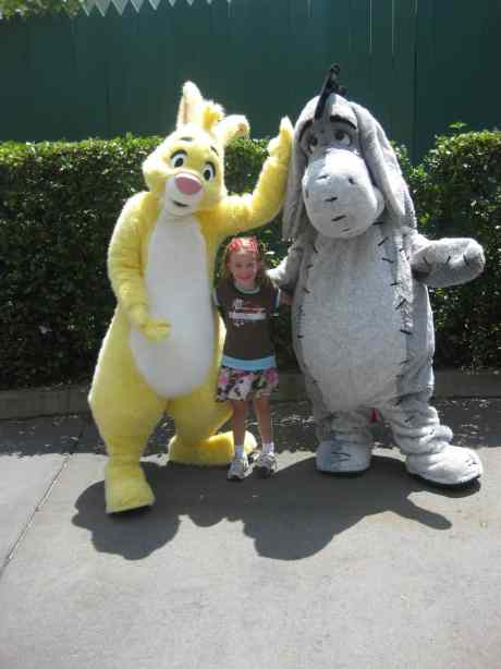 We met Yellow Rabbit from Winnie the Pooh back in 2010 at the old Tear Drop training location. Haven't seen him since.