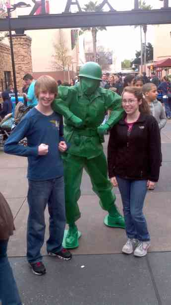 Green Army Man at Hollywood Studios 2012