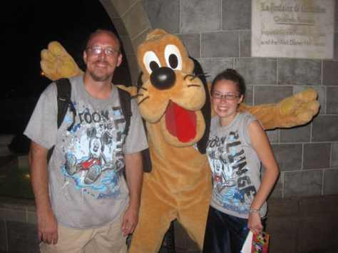 Pluto at Magic Kingdom 2010