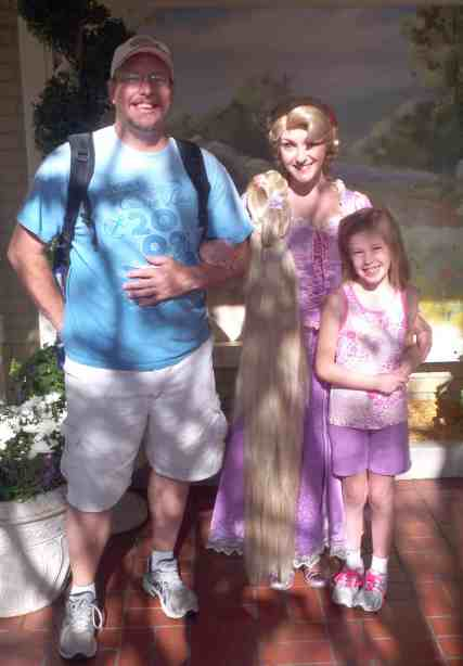 Rapunzel when she was meeting next to City Hall 2012