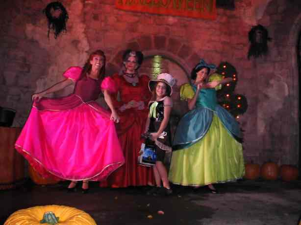 Anastasia, Drizella and Lady Tremaine Magic Kingdom 2008 Halloween Party
