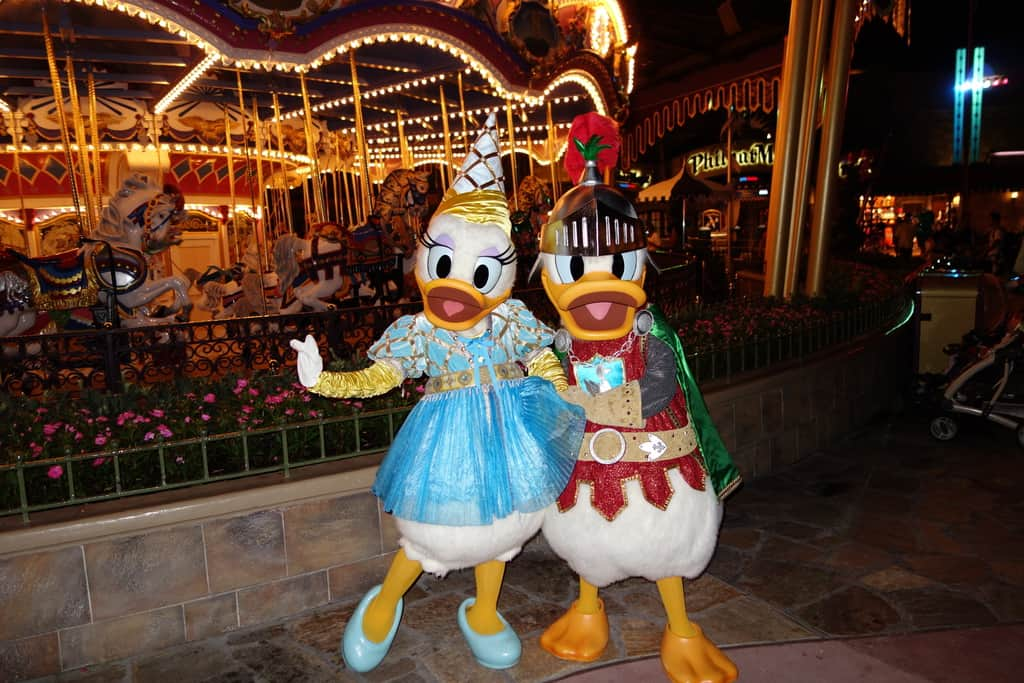knight donald and princess daisy at mickey's not so scary halloween