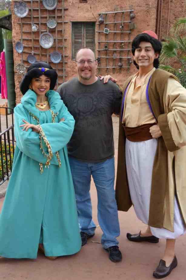 Aladdin and Jasmine at Morocco in EPCOT 2013