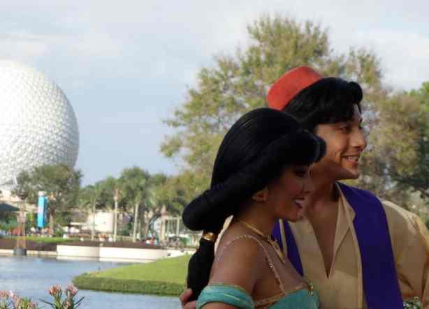 Aladdin and Jasmine Profile EPCOT 2013
