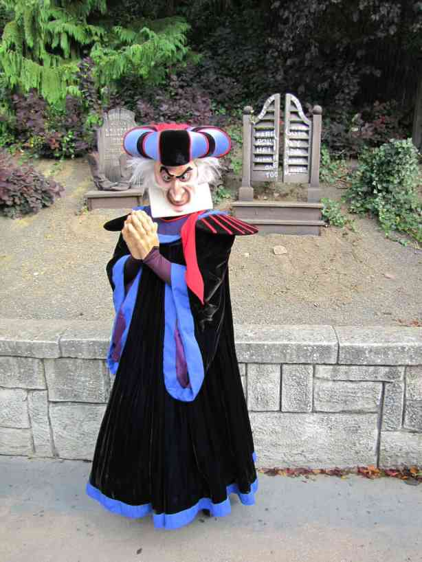 Frollo can be found during the Halloween Season at the Disneyland Park