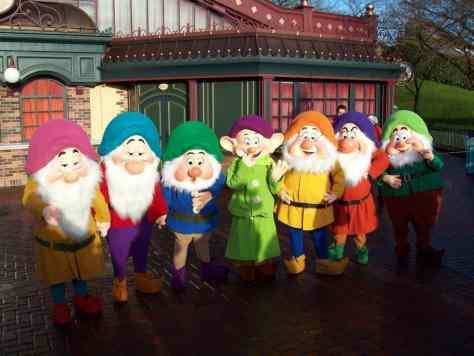Seven Dwarfs at Disneyland Paris meet and greet
