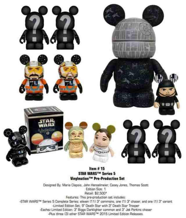 Star Wars Vinylmation Series 5 Pre Production set
