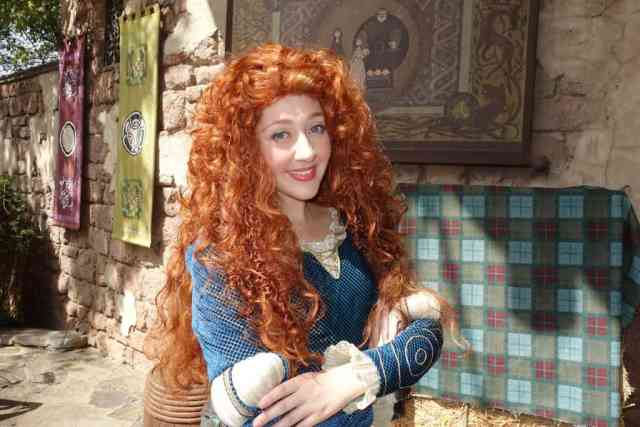 Merida at the Magic Kingdom in Disney World 2013