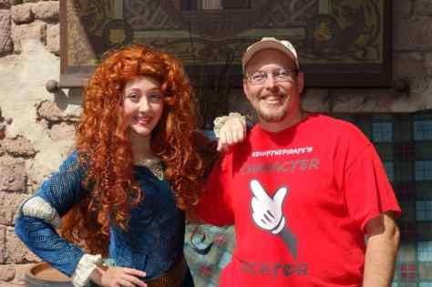 Merida at Magic Kingdom in Disney World