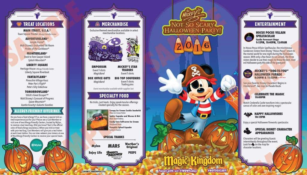 Mickey's Not So Scary Halloween Party Guide 2017 - KennythePirate ...