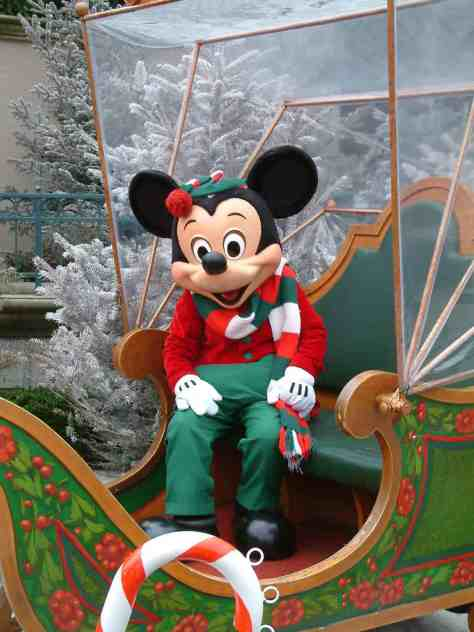 One of Mickey's many Christmas Outfits. This was at the Disneyland Park in 2004.