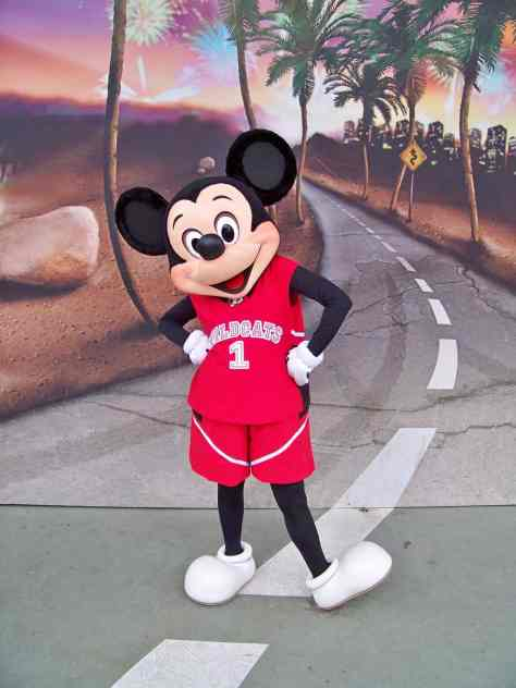 Mickey showing his support for the Wildcats from High School Musical at the Walt Disney Studios in 2009.