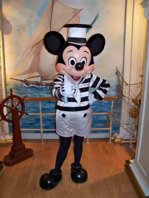 Mickey in his Steamboat Willie outfit at the Disney's Newport Bay Club Hotel.