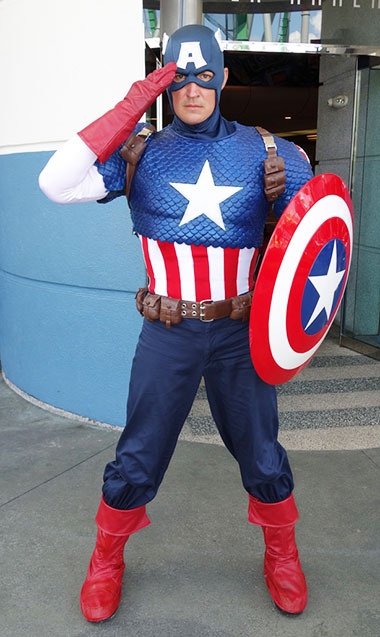Captain America Universal Orlando Islands of Adventure Characters
