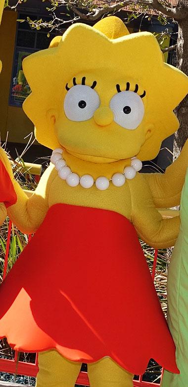 Lisa Simpson Universal Orlando character meet and greet