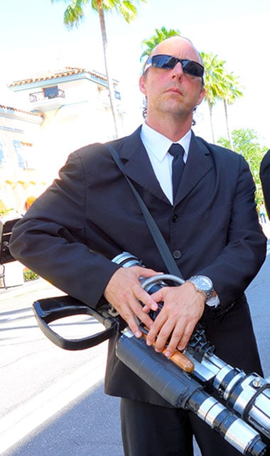 Men in Black character meet and greet in Universal Orlando