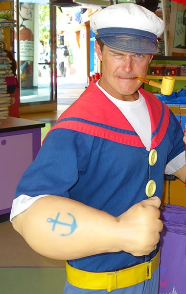 Popeye Universal Orlando Islands of Adventure Character