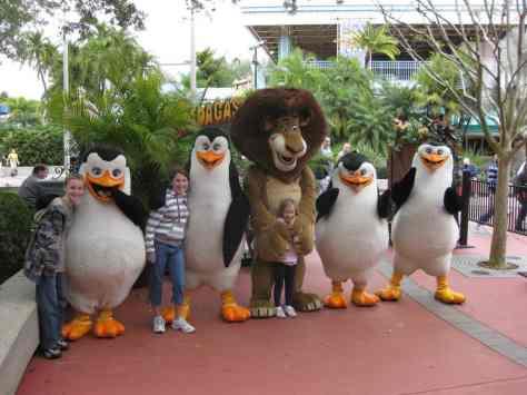 Alex and Penguins Universal Studios Orlando 2009