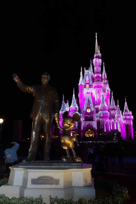 Cinderella Castle, Magic Kingdom, Walt Disney World, Christmas Lights