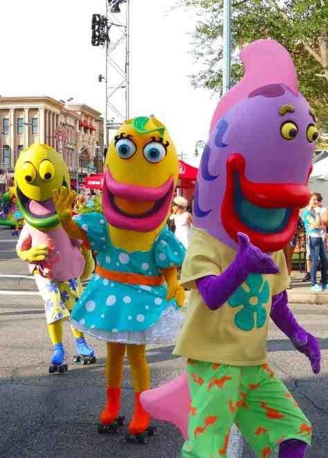 Fish from Spongebob Universal Studios 2012 parade unit