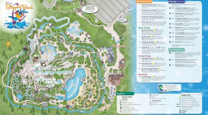 Walt Disney World Water Park Maps Kennythepirate Com