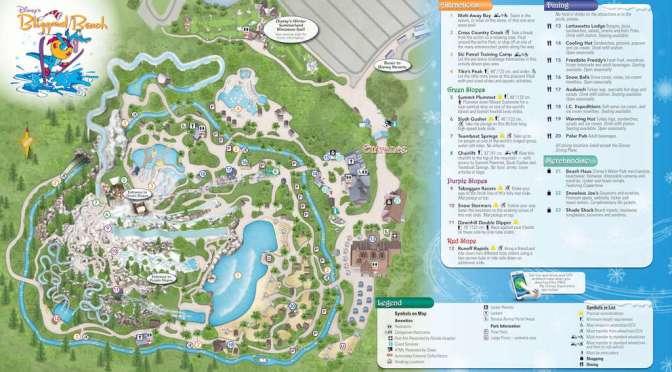 Blizzard Beach Map Walt Disney World Water Park Maps   KennythePirate.com Blizzard Beach Map