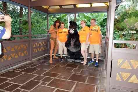 Tarzan with Terk at 7:33.  There were no sightings of Kala or Kerchak :(