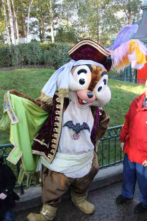 On October 31st 2012 the Disney Character Train was bringing out some of the VIP Characters in special Halloween Pirate outfits. These outfits were only used during that day.