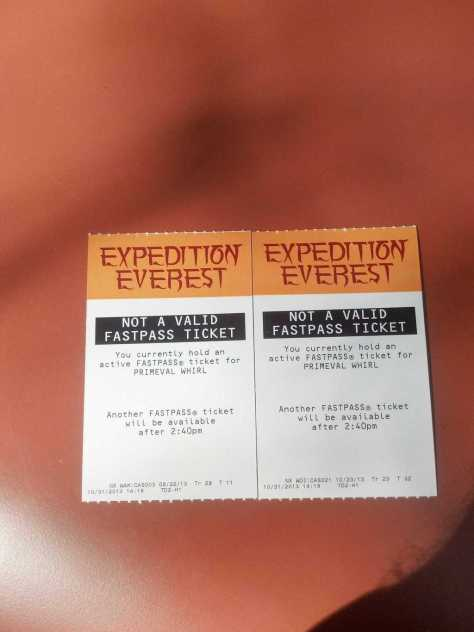 Expedition Everest Fastpass Animal Kingdom Kenny the Pirate