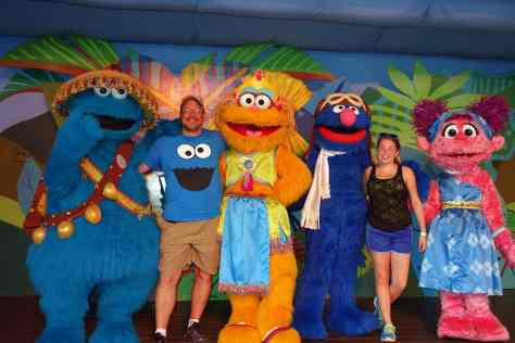 Busch Gardens Tampa Sesame Street Characters Grover Zoe Cookie Monster Abby Cadabby