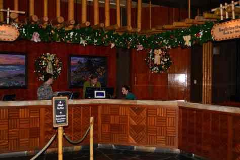 Polynesian Resort Christmas Characters and Christmas Decor (16)