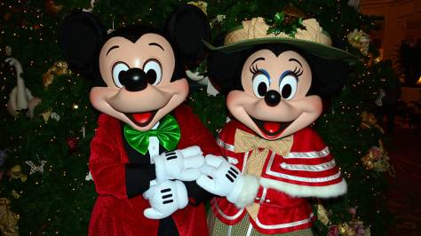 walt disney world grand floridian christmas decor christmas characters mickey and minnie 43 - Mickey And Minnie Christmas Decorations