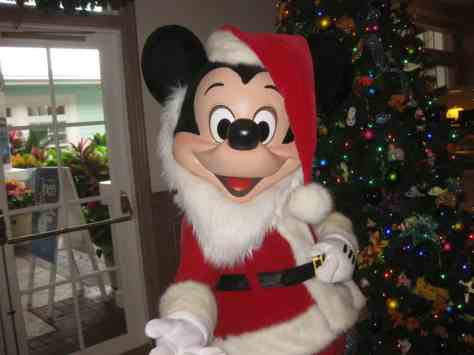Walt Disney World, Old Key West Resort, Christmas Characters, Santa Mickey, Meet and greet