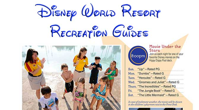 March Disney World Resort Recreation Guides and Easter activities updated