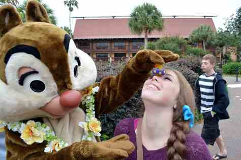 Easter Polynesian Resort character meet and greets Chip n Dale