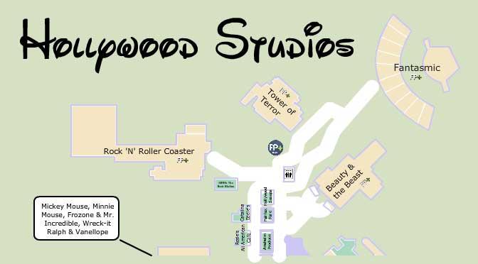 KennythePirate Hollywood Studios Map | KennythePirate.com