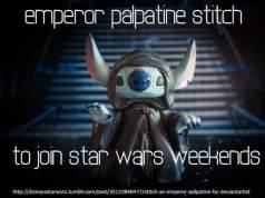 star wars weekends emperor palpatine stitch, star wars weekends characters