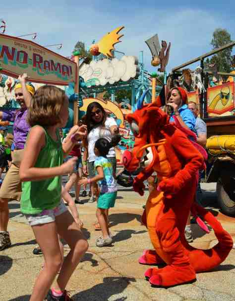 Mushu at Animal Kingdom Dinoland Dance a Palooza dance party