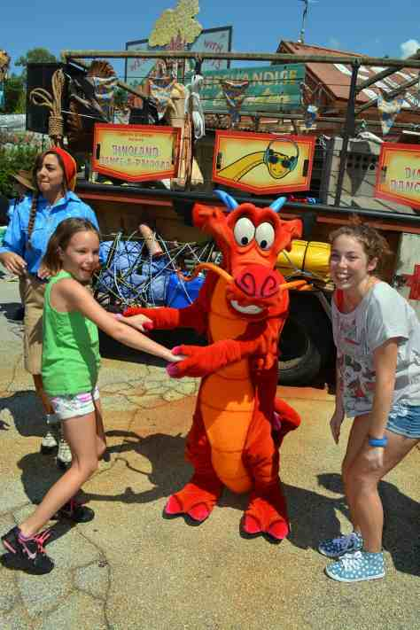 Mushu Animal Kingdom Dinoland Dance a Palooza dance party
