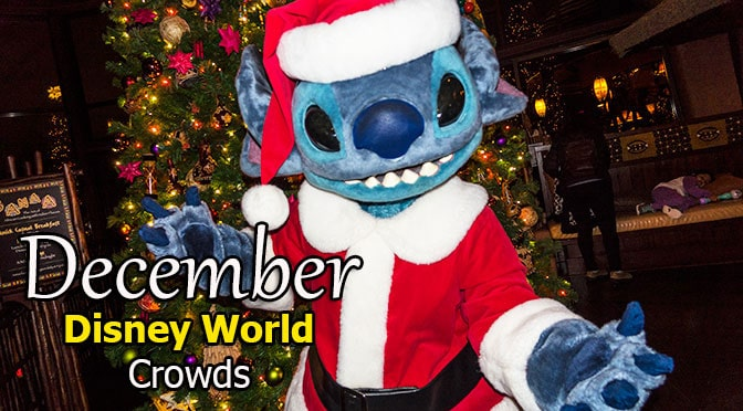Disney World Crowd Calendar December 2018