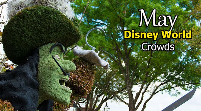 May 2018 Disney World Crowd Calendar with Park Hours and Extra Magic Hours created