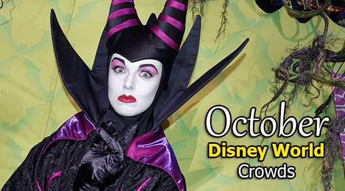 October 2018 Disney World Crowd Calendar is now available