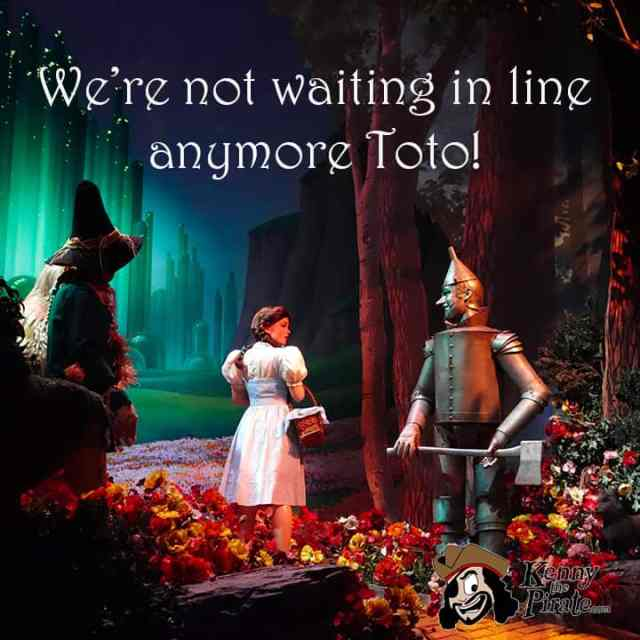We're not waiting in line Toto