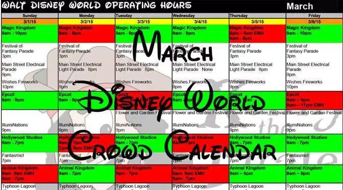 Initial park hours and Extra Magic Hours released for March 2017